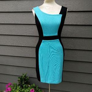 YOANA BARASCHI colorblocked knit wiggle dress S